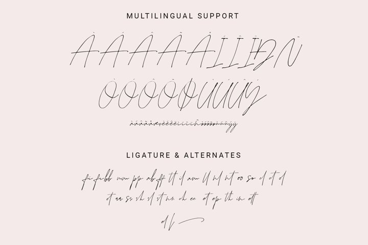 Juliette - Stylish Handwritten Signature Font example 10