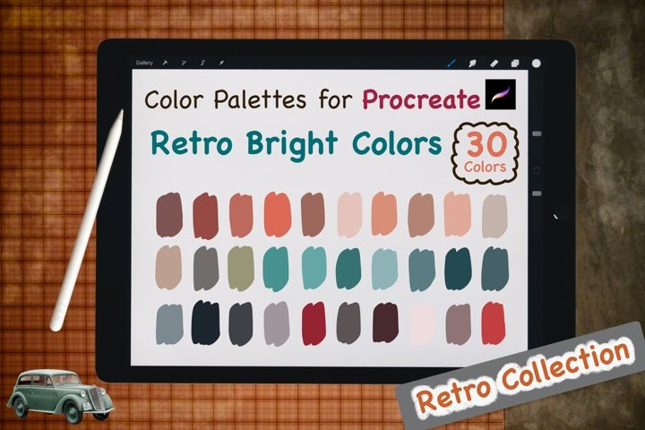 Color Palettes set for Procreate - Retro Bright Colors