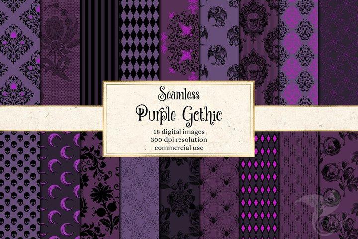 Purple Gothic Digital Paper