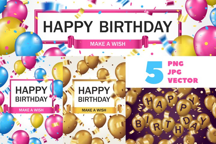 5 Posters for Birthday or other holiday
