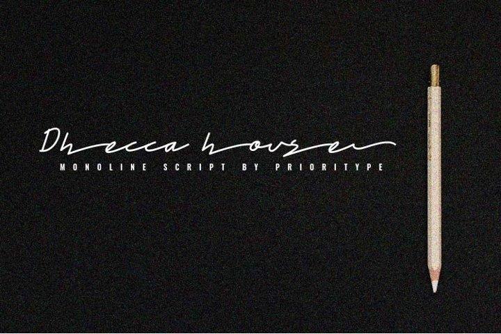 Dhecca House - Monoline Script