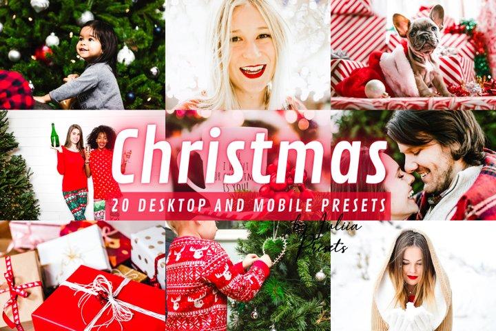 20 CHRISTMAS Lightroom Presets Mobile & Desktop for Holiday