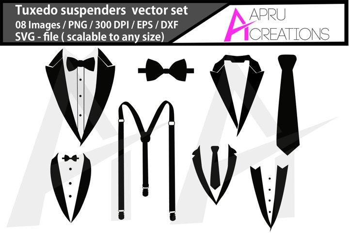 tuxedo suspenders svg / tuxedo suspenders crafters