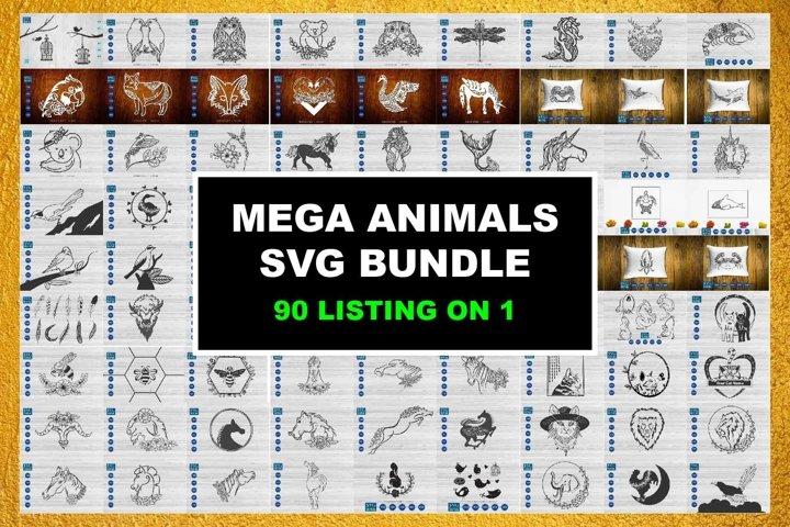 SVG Animals Bundle, Mega Animal bundles Cut File