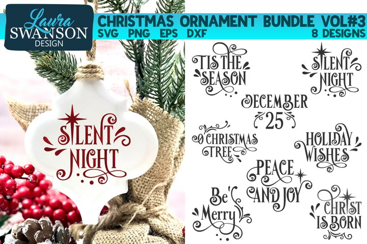 Christmas Ornament Bundle Vol#3 | Christmas SVG Bundle