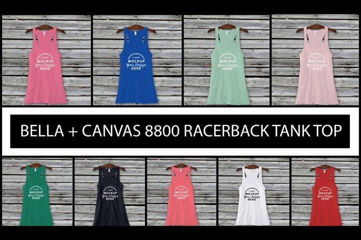Bella Canvas 8800 tank top flatlay mockups