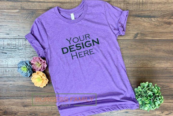 Purple Bella Canvas Spring |Craft mock up