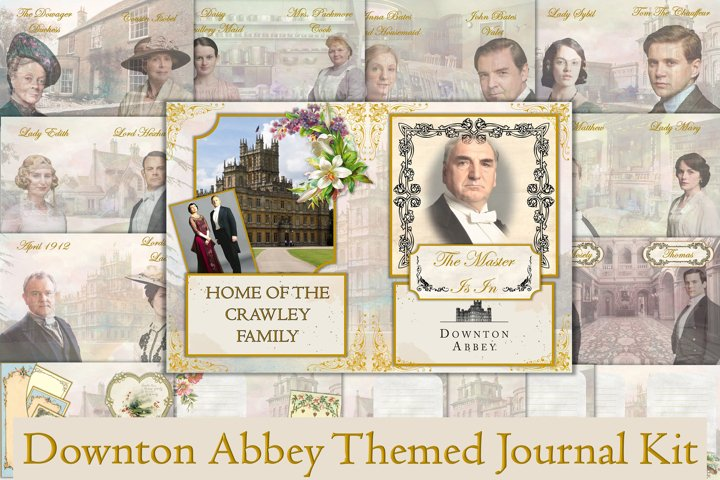 Downton Abbey Themed Journal Kit. 28 Pages Free Ephemera