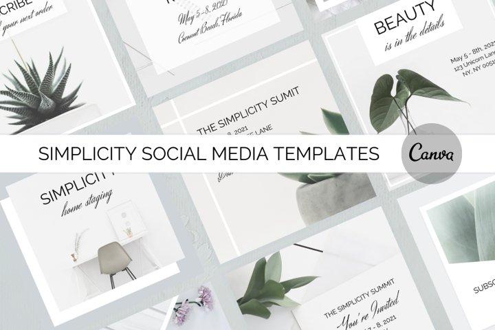 Simplicity Social Media Template Bundle