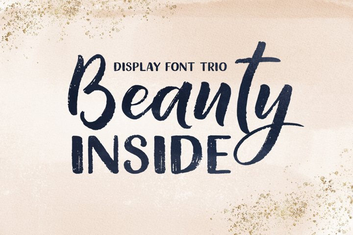 Beauty Inside Font Trio