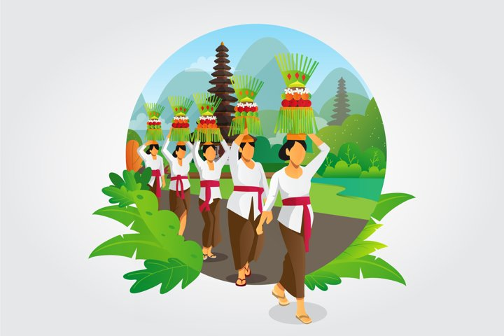 Indonesia Bali galungan ceremony