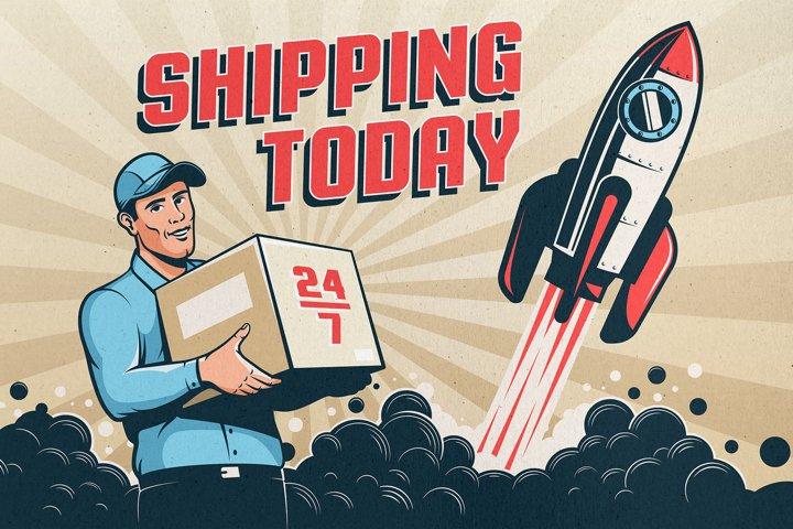 Delivery Service Retro Logo