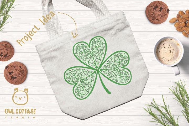 St. Patricks day svg, Clover Leaf, Clover Leaf Tattoo example 8