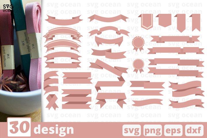 30 RIBBON SVG BUNDLE | Scroll svg | Banner svg | Text banner