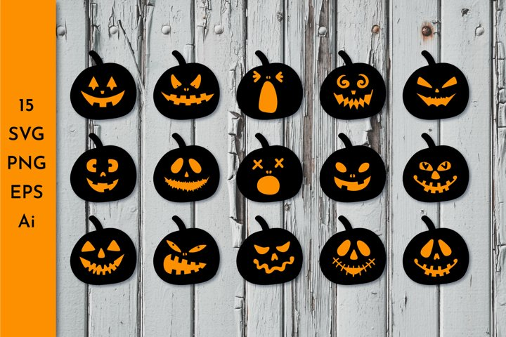 Halloween Pumpkin SVG. Pumpkin faces SVG. Jack o lantern