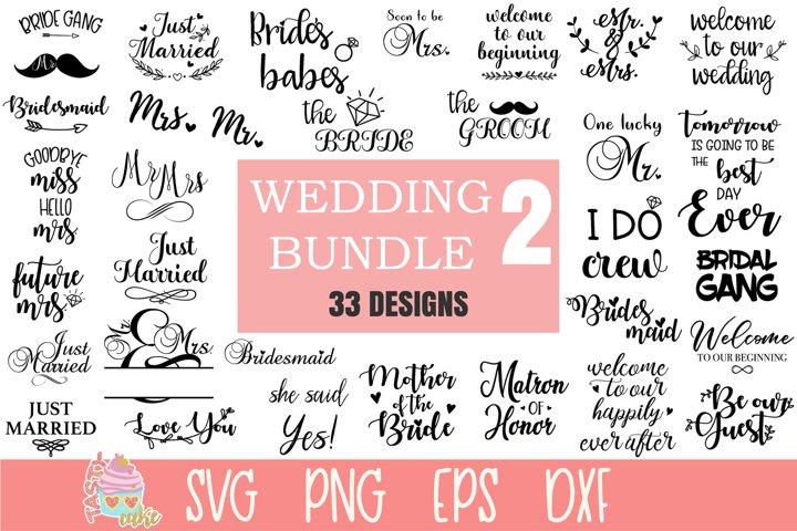Wedding Bundle 2 - 33 Wedding Cut Files