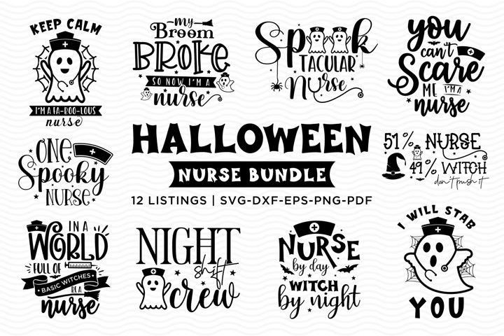 Halloween SVG Bundle For Nurses, Nurse SVG, Halloween SVG