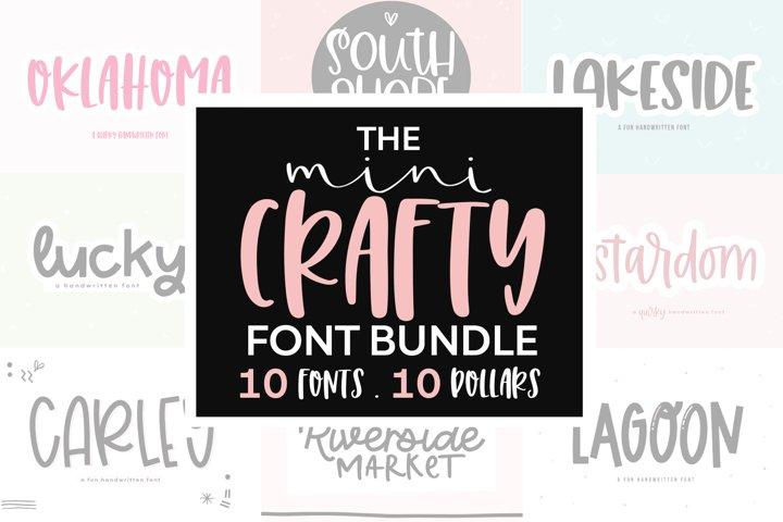 The Mini Crafty Bundle - 10 Fun & Quirky Fonts