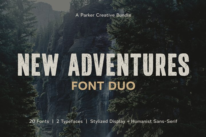New Adventures | Font Duo by Parker Creative