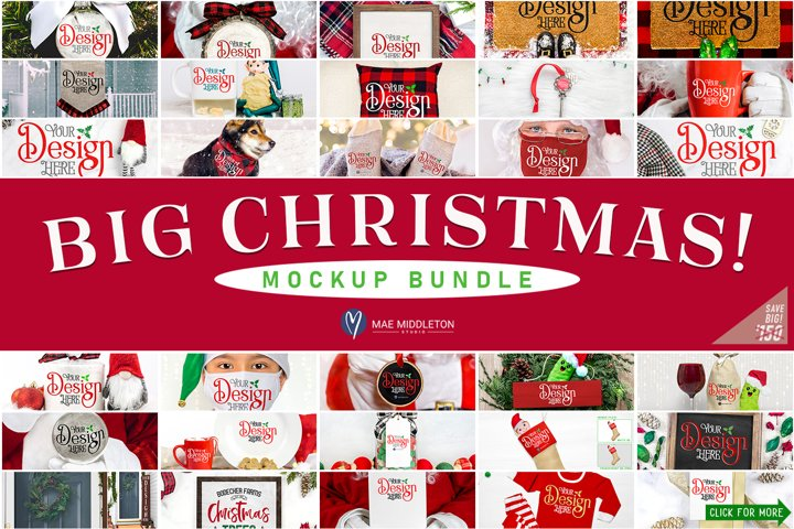 Christmas Mockup Bundle | Big, Fun Mockups!