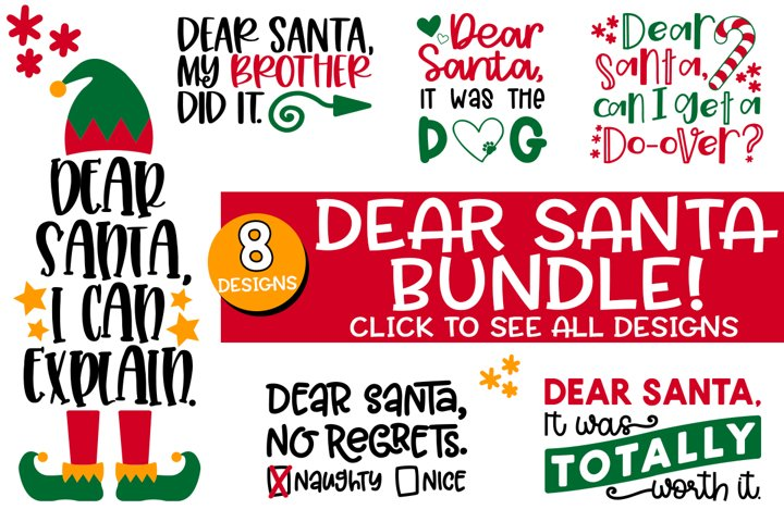 Dear Santa SVG Bundle - Fun Christmas SVG Set for Crafts