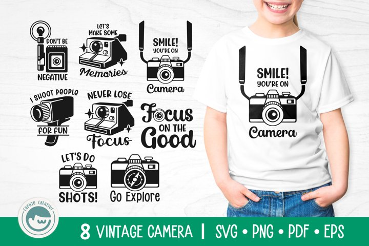 Camera SVG Cut Files Bundle