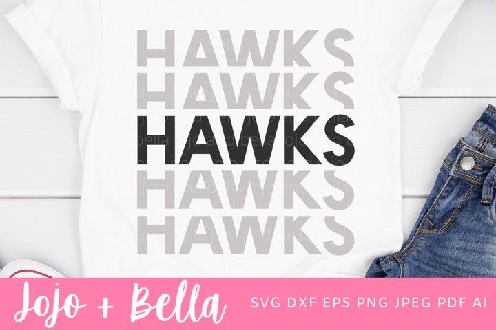Football SVG - Hawks Svg