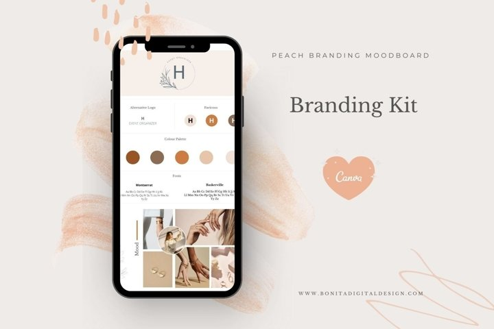 Peach Branding Kit