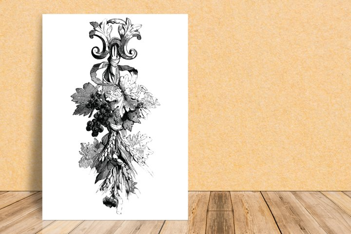 Rustic Wall Decoration, Printable Wall Decor, Antique French
