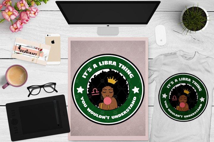 Zodiac, Afro Woman, Libra, Melanin Poppin, Afro Girl SVG