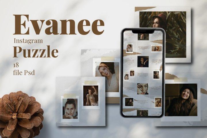 Evanee Instagram Puzzle Template