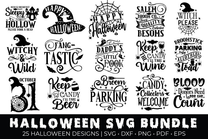Halloween SVG Bundle, Halloween Quotes Bundle