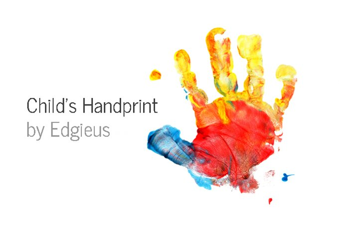 Childs handprint