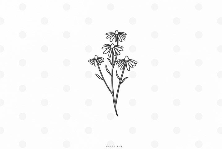 Daisy flowers svg cut file
