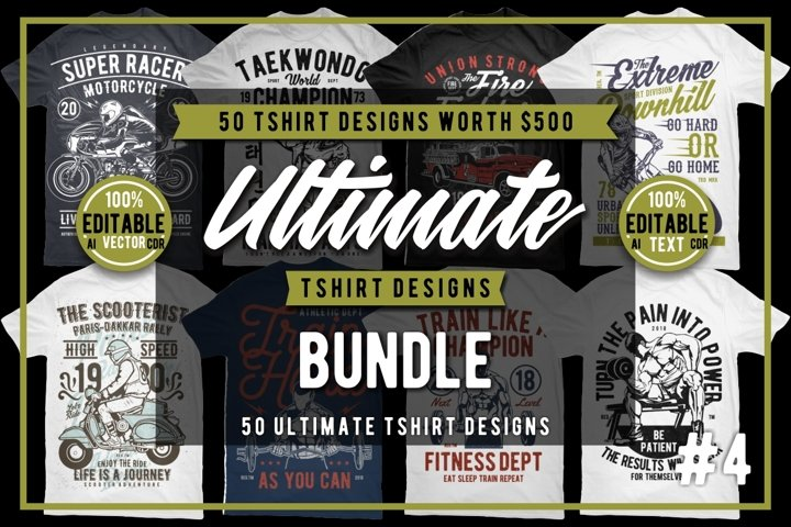50 Tshirt Designs Bundle #4