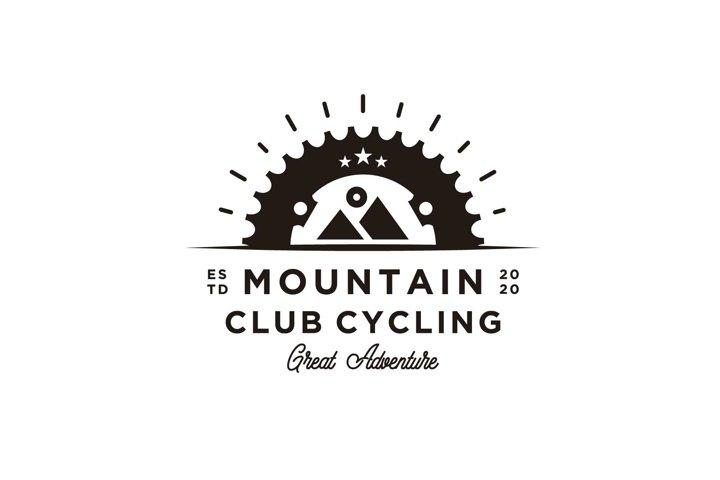 Bicycle mountain bike sprocket crank badges logo design