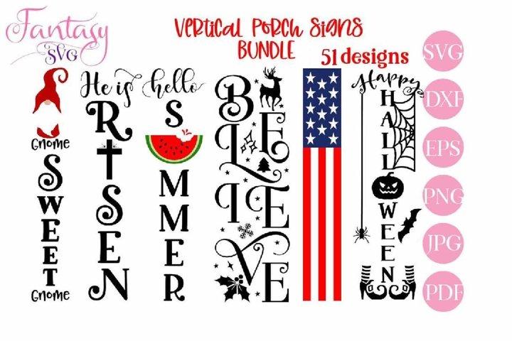 Vertical Front Porch Signs - SVG Cut Files BUNDLE
