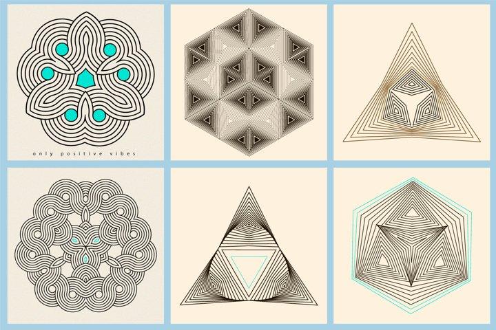 Illusion linear geometric shapes example 9