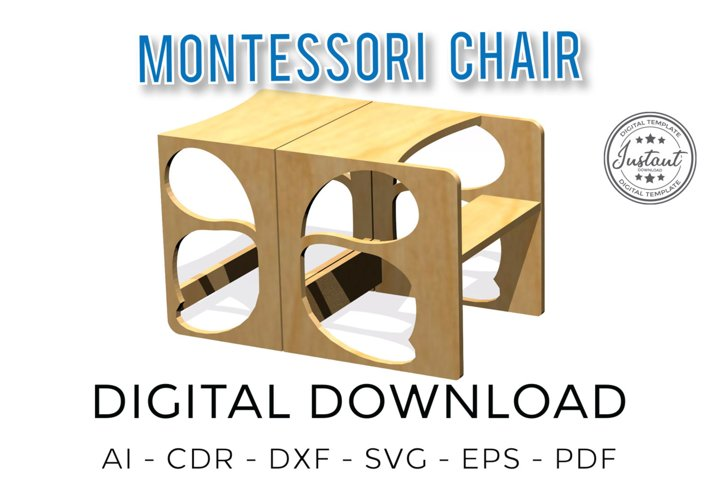 Montessori chair, Decor for home, Baby Chair, 3D model,