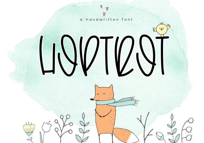Hoptrot - A Cute Handwritten Font - Free Font of The Week Font