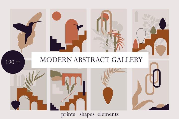 TERRA MODERN ABSTRACT bundle, landscapes, fashion prints