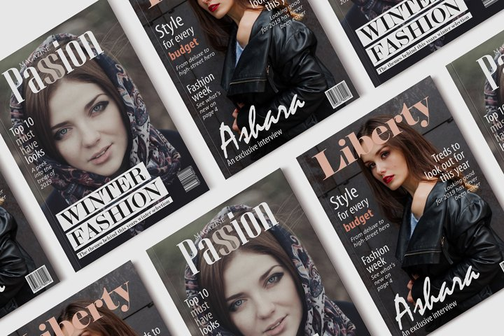 10 Fashion Magazine Template Covers