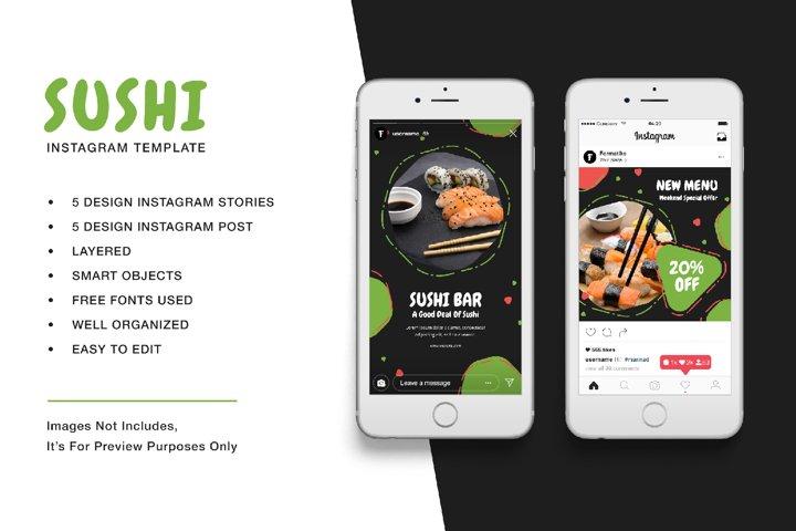 Sushi Instagram Template