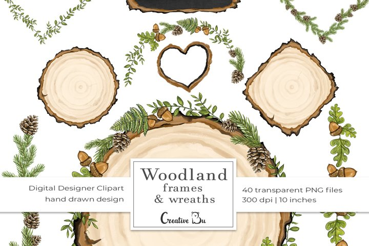 Woodland Forest Friends part 2 - Frames and Wreaths