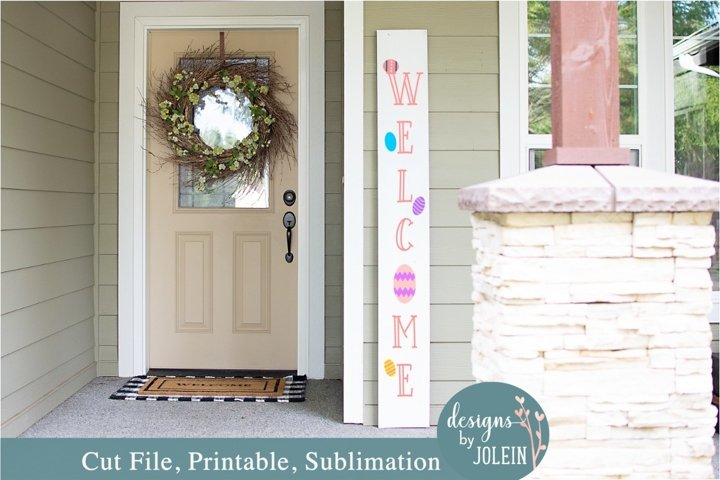 Easter Welcome Sign SVG, Sublimation, Printable