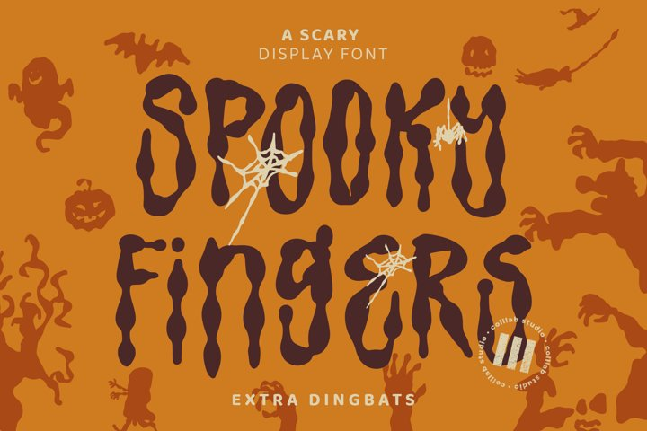 Spooky Fingers - A Scary Display Font