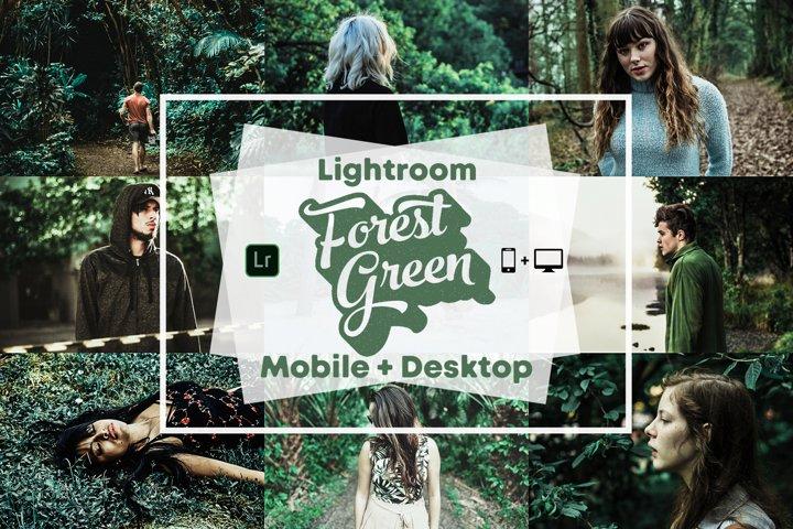 Forest Green - Mobile and desktop Lightroom Presets