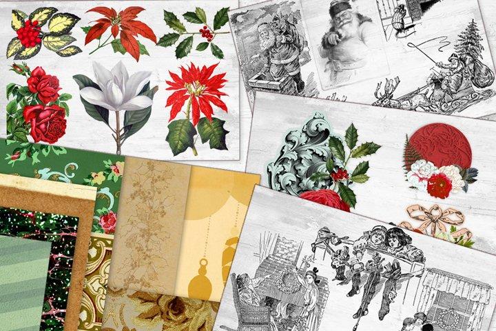 Vintage Christmas Bundle - Vintage Santa Clipart