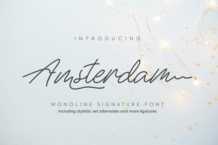 Amsterdam   Monoline Signature Font