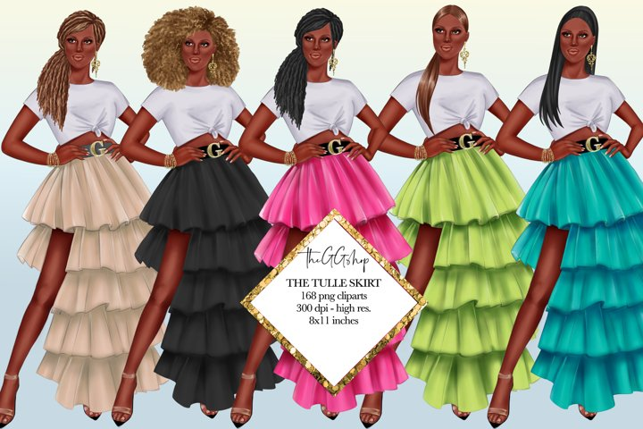 Afro American Girls Cliparts